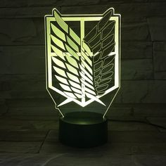 Attack on Titan Wings of Liberty 3D Light Touch LED Lamp //Price: $0 & FREE Shipping //   #uzumakinaruto #anime