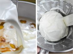 Cinnamon Sugar Sourdough French Toast Bake with Whipped Yogurt Topping I howsweeteats.com