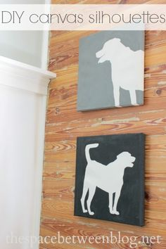 DIY canvas silhouettes made without a fancy vinyl cutting machine from thespacebetweenblog.net
