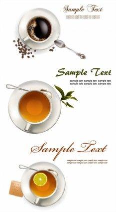 coffee tea lemon tea vector