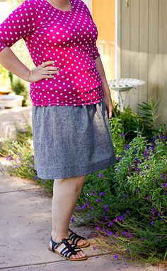 Sewing for four (plus one!): Everyday skirt + Metro tee.