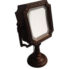 Vintage Lighted Vanity Mirror ($53) ❤ liked on Polyvore featuring home, bed & bath, bath, bath accessories, mirrors, magnifying make up mirror, lighted cosmetic mirror, bronze bathroom accessories, bronze lighted makeup mirror and vintage lighted makeup mirror