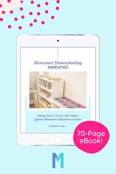 Are you a homeschooling parent who is curious about following the Montessori approach but you're feeling overwhelmed with trying to understand how it all works?This 70-page eBook reveals the essentials to focus on as you get started. You CAN give your 3-6 year old child a quality Montessori education at home and do it in a way that works with your budget, time and space! Montessori Preschool Curriculum | Preschool Homeschool Montessori Curriculum | Montessori Activities Preschool… Montessori Homeschool, Preschool Curriculum, Montessori Activities, Preschool Kindergarten, Teaching The Alphabet, Learning Letters, How To Start Homeschooling, Preschool Letters, Feeling Overwhelmed