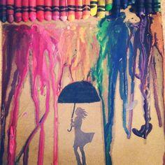 @christineyang made crayon art with me!