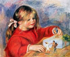 Claude Renoir at play Sun - Pierre-Auguste Renoir
