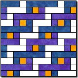 Woven Paths block pattern