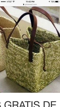 Couture Sewing, Loom Weaving, Handmade Bags, Straw Bag, Purses And Bags, Sewing Projects, Handbags, Knitting, Crafts