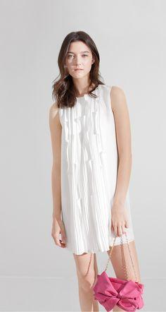 Robe trapèze en crêpe léger. - Les robes - Printemps-été 2016 - E-shop