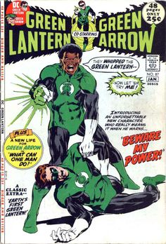 Green Lantern (or Green Lantern / Green Arrow) #87.  The debut of the 3rd GL from Earth, John Stewart.