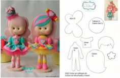 muñequitas de fieltro con moldes gratis para imprimir Muñecos de fieltro Crear sus propias manos una muñeca divertida de fieltro es muy simple. En la mayor Felt Crafts Patterns, Doll Patterns, Fabric Doll Pattern, Felt Ornaments Patterns, Fabric Dolls, Doll Crafts, Felt Fairy, Felt Books, Soft Dolls
