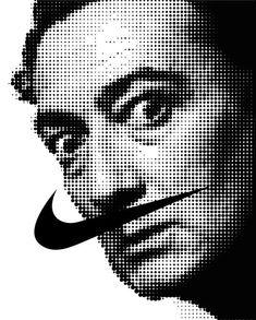 just do it salvador Dali, Just da li, Nike mustache. Creative Advertising, Advertising Design, Salvador Dali, Designers Gráficos, Visual Communication, Grafik Design, Ad Design, Art Plastique, Graphic Design Inspiration