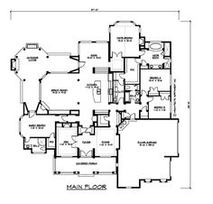 one story floor plan- now if only this came with a finished basement it would be my dream house in a heartbeat!!