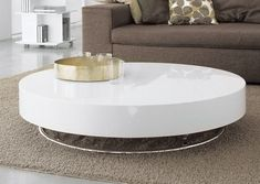 Lacquered round coffee table ARENA By Cattelan Italia Ikea White Coffee Table, Leather Ottoman Coffee Table, Coffee Table With Shelf, Simple Coffee Table, Coffee Table Design, Coffee Tables, Hardwood Floor Stain Colors, Furniture Depot, Accent Furniture