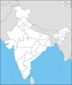 India map outline a4 size map of india with states pinterest political map of india and great map resource gumiabroncs Choice Image