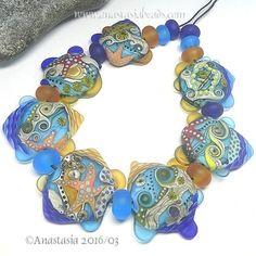 ANASTASIA-handmade-lampwork-beads-7-SEASHORE-SRA http://www.ebay.com/itm/262362994245?ssPageName=STRK:MESELX:IT&_trksid=p3984.m1555.l2649