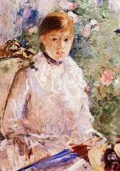 Berthe Morisot -  (1841-1895) Summer - Young Woman by a Window, 1878. Oil on…