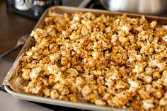 cinnamon bun popcorn.  thank you @Stephanie Villa Davis.