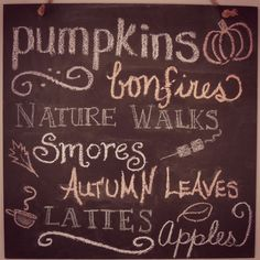 Oh yah baby.  You are speaking my fall language.
