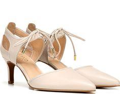 7334e320845 Franco Sarto Darlis Pump Ivory Leather 2 Inch Heels