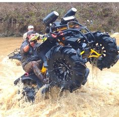 RIDING THAT CAN AM OUTTA THERE!