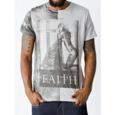 Religion Clothing faith ss crew neck tee - T-shirts - Menswear. Wear it with a pair of black shorts.