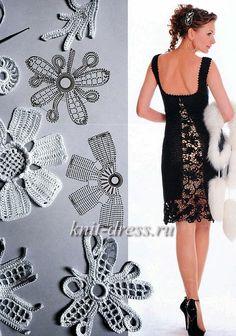 Encontrei esse vestido na internet, e achei lindo!!Que tal começar a crochetar!