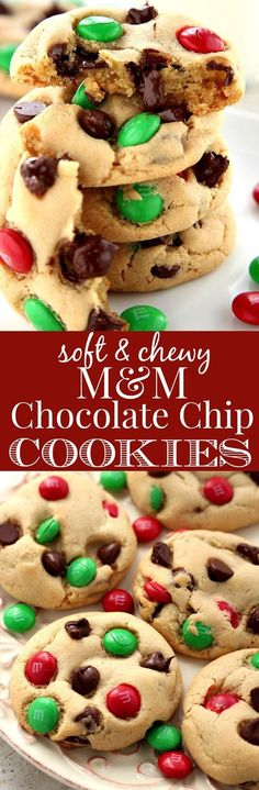 Soft and Chewy M&M Chocolate Chip Cookies - my favorite chocolate chip…