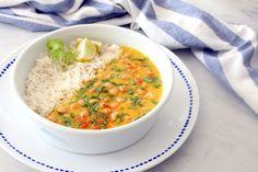 Curry de Mango y Garbanzos.
