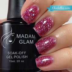This is Sparkling Hearts by Madam Glam. Isn't this color adorable ? Click to shop more colors of gel and nail polishes ! And psst... you can get 30%off your first order with coupon FIRST30 for a limited time only!