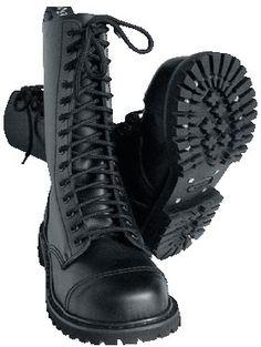 (ref. boots 008) BOTAS KNIGHTSBRIDGE LONDON - 14 AGUJEROS Negras.  Pedidos: www.barrio-obrero.com