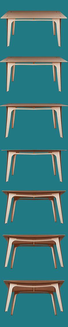 Thobeck design table can be taken apart | Thobeck design tafel kan worden gedemonteerd.