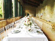 a very elegant wedding dinner party at #GiardinoCorsini in #florence