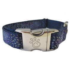 Chief Furry Officer 100-Percent Cotton Designer Fabric Webbing Boboa Dog Collar, Medium, Navy * Quickly view this special dog product, click the image : Collars, Harnesses and Leashes