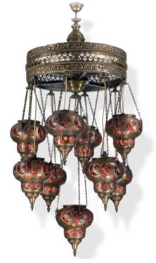 Our exotic turkish lamps