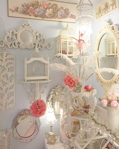 Happy with the rearranging #chandeliers #prettydecor #romantichomes…