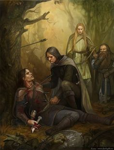 The Departure of Boromir, Son of Denethor | Aragorn, Gimli, Leoglas