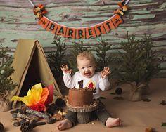 1ST BIRTHDAY BANNER boy / Camping Birthday by SweetGeorgiaSweet