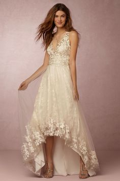 Opal Gown from @BHLDNsold at Anthropologie   unique wedding dress