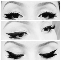 Winged eye liner