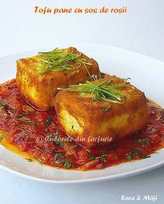 Tofu pane cu sos de rosii