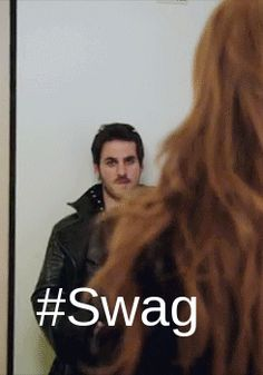 I love how Hook walks around after everything with Emma is better.......I love Captain Swan <3