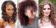 Resultado de imagem para fotos de penteados para cabelos cacheados