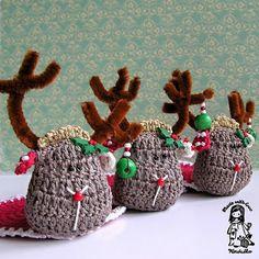crochet DIY, crochet coaster pattern, crochet pattern, crochet reindeer, crochet Vendulka, Magic with hook and needles