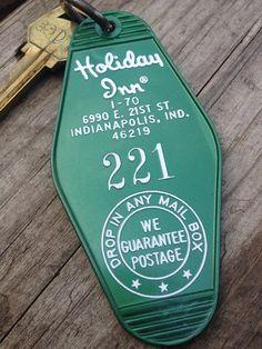 Vintage hotel key tag - Holiday Inn, Indianapolis