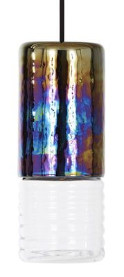Suspension Flask Long / Ø 10 cm x H 25 cm Iridescent / Transparent - Tom Dixon
