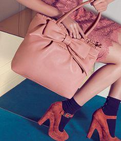 828ad88cd6 TWIN-SET Simona Barbieri  Shopping bag with frontal bow and ruching You Bag