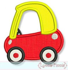 Little COUPE CAR Applique 4x4 5x7 6x10 7x11 by LynniePinnie, $2.99