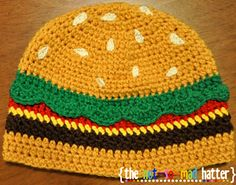 Ravelry: The Cheeseburger Hat pattern by Devin Lynch