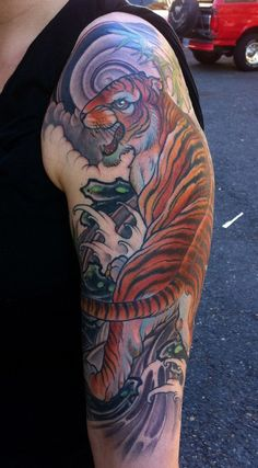 Tiger tattoo on sleeve - 55 Awesome Tiger Tattoo Designs  <3 !