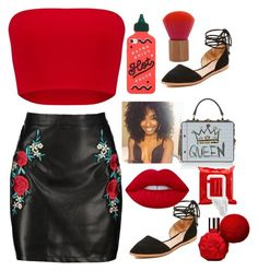 """Spitting 🔥"" by lannaslayallday ❤ liked on Polyvore featuring ban.do, Madewell, Boohoo, Dolce&Gabbana, Lime Crime and Sephora Collection"